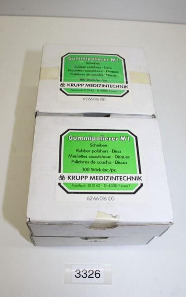 KRUPP Gummipolierer M 1 - 4 x 100 Scheiben # 3326