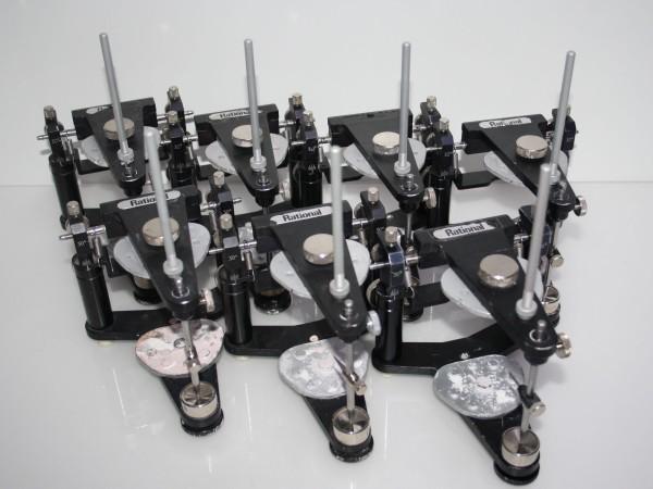 7 x Mittelwertartikulator / Artikulator Dentsply DeTrey Typ Rational
