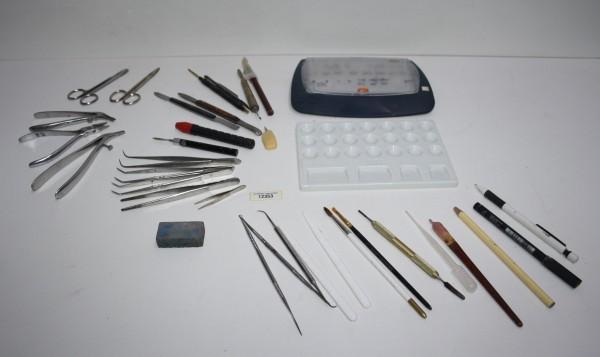 Dentallabor-Restposten Keramik-Zubehör / Werkzeuge / Zangen etc. # 12353