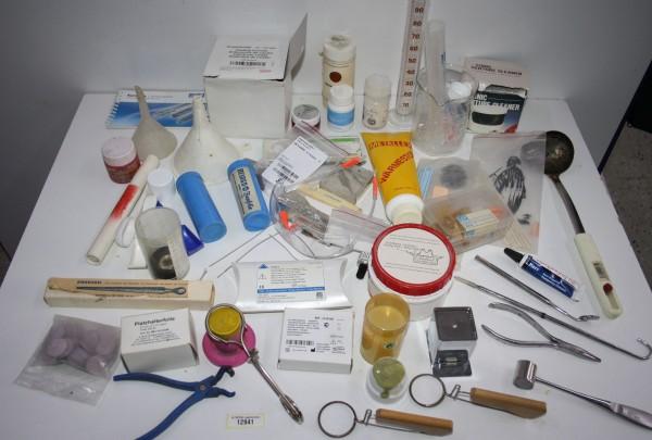 Dentallabor-Restposten diverse Werkzeuge + Materialien # 12941