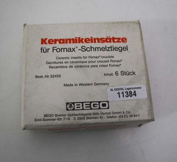 BEGO Keramikeinsätze für Fornax-Schmelztiegel # 11384