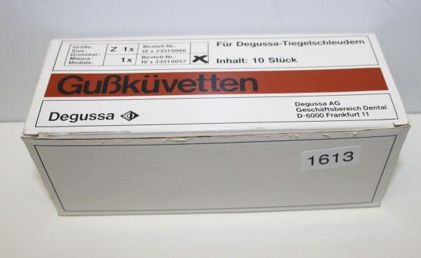 Degussa Gußküvetten Z 1 - 10 Stück - neu # 1613