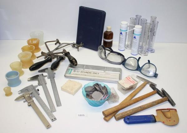 Dentallabor Restposten - Diverse Werkzeuge + Materialien # 1805