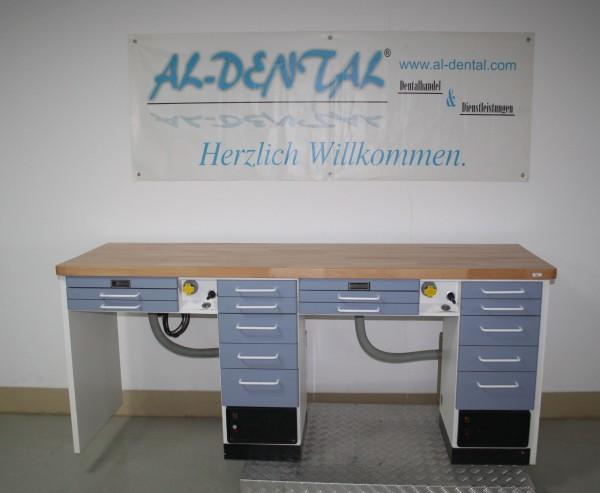 MANN Doppelarbeitsplatz 2er Labortisch Dentalmöbel # 6691