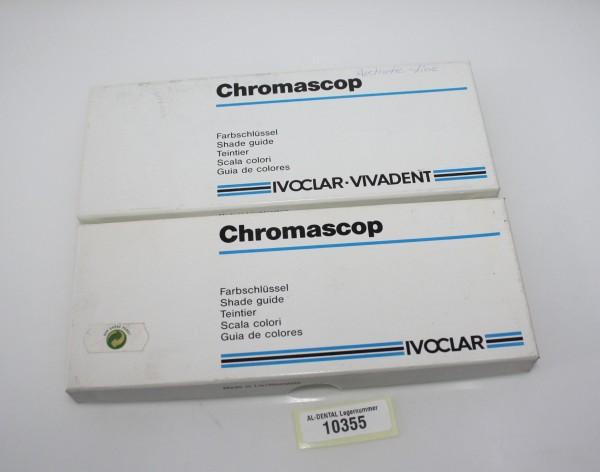 2 x IVOCLAR VIVADENT Chromascop Farbschlüssel - neu OVP # 10355