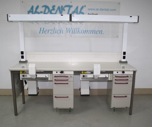 KaVo 2er Arbeitstisch / Labortisch / Arbeitsblock / Doppelarbeitsplatz # 7376