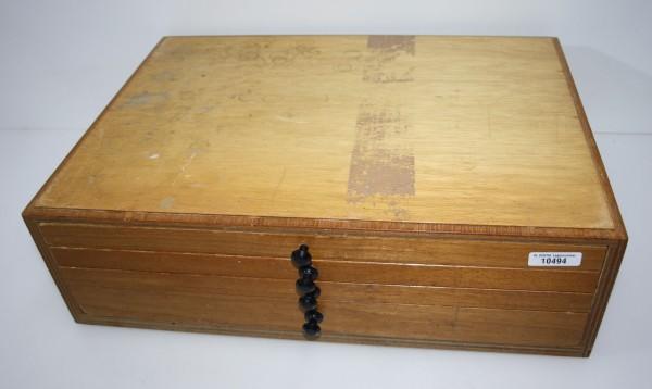 Holz-Zahnschrank mit Reparaturzähnen Vitanorm/Vitalumin # 10494