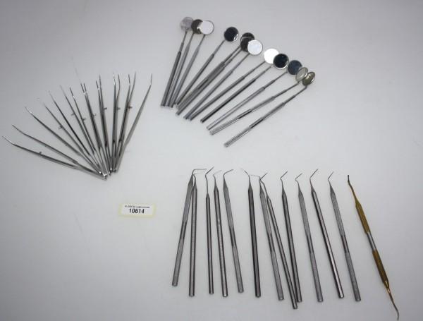 Diverse Werkzeuge Zahnarztbesteck Pinzetten etc. # 10614