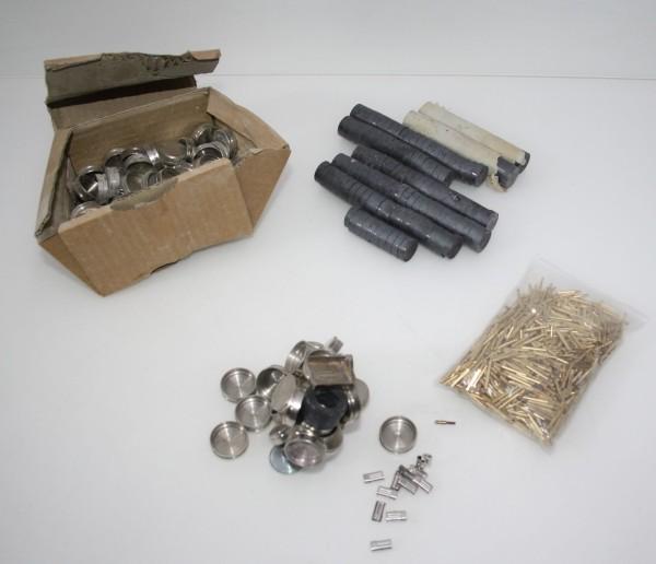 Dentallabor-Restposten Pins, Hülsen, Haftplatten, Magnete etc. # 10446