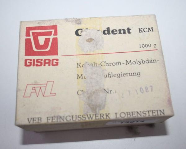Gisadent KCM Kobalt- Chrom- Molybdän- Modellgußlegierung # 13914
