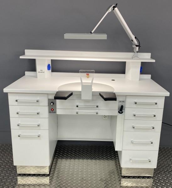 Al-Dental Einzelarbeitsplatz Labortisch Dentalmöbel