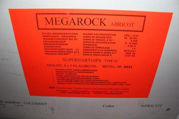 Superhartgips MEGAROCK Apricot Typ IV - OVP # 7449