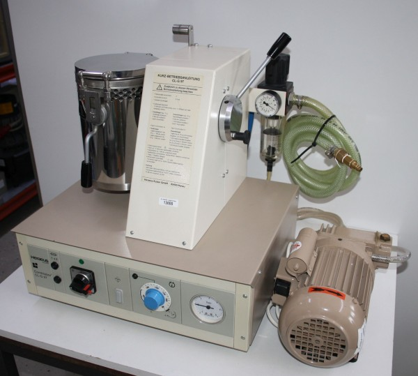 HERAEUS Vacuum-Druckgussgerät Combilabor CL-G-97 + Vakuumpumpe # 13000