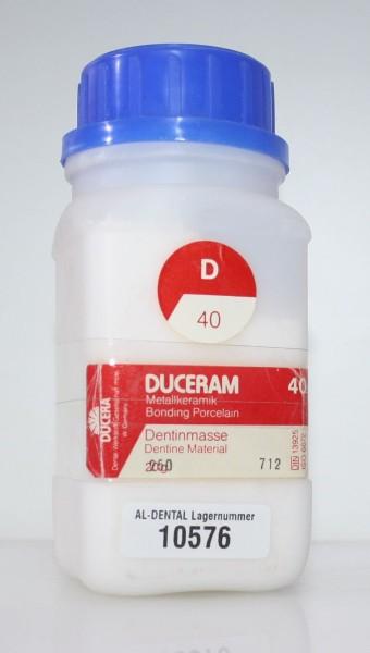 DUCERAM Metallkeramik / Dentinmasse D 40 # 10576