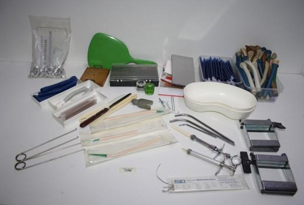 Zahnarztpraxis-Restposten diverse Handinstrumente / Werkzeuge etc. # 12388
