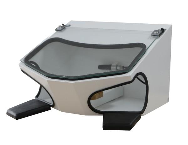 AL-Dental Schleifbox - neu + Absauganschluß + Beleuchtung