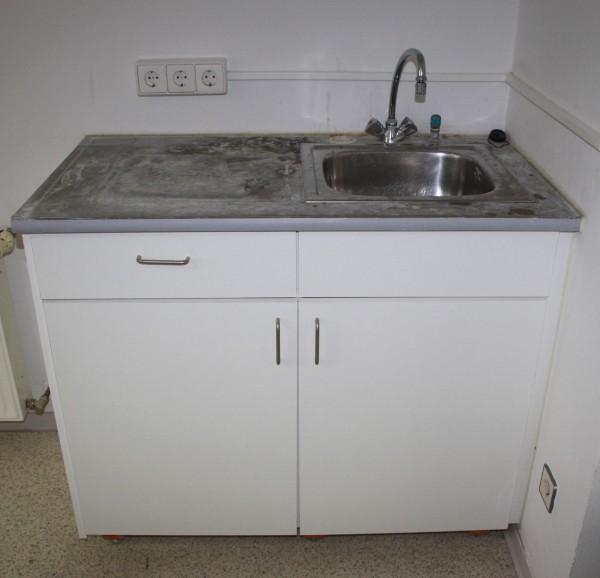 Keramik-Nebenfunktionstisch mit Waschbecken für Zahntechnik