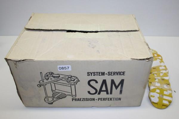 SAM Artikulator mit 10 gebrauchten Montageplatten # 857