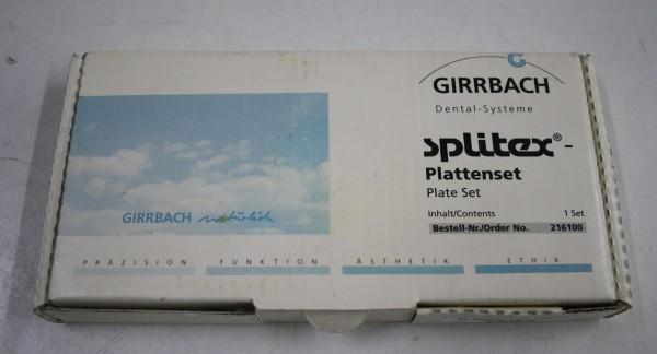 GIRRBACH-Dental Splitex-Plattenset # 7992