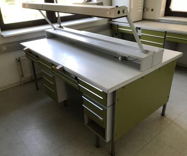 FREUDING 4er Laborarbeitsplatz / Labormöbel / Dentalmöbel
