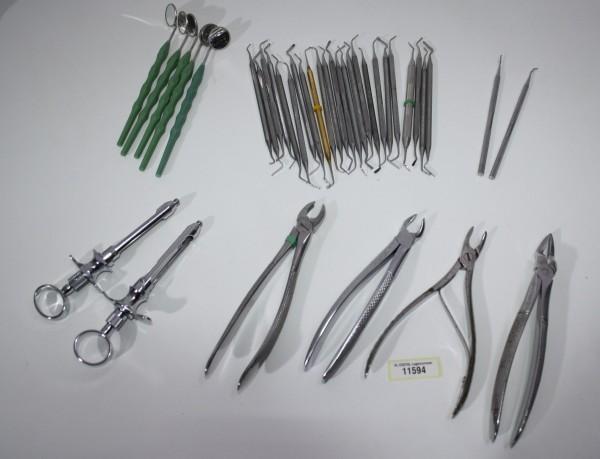 Zahnarztpraxis Restposten diverse Instrumente, Zangen etc. # 11594