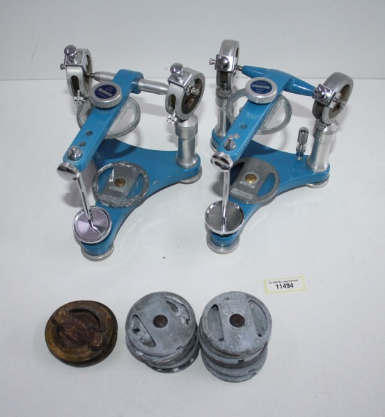 2 x Dentatus Artikulator + Sockelplatten - neuwertig # 11494