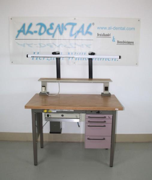 KaVo Dentallabor-Einzel-Arbeitsplatz Techniktisch Labortisch Labormöbel #6921