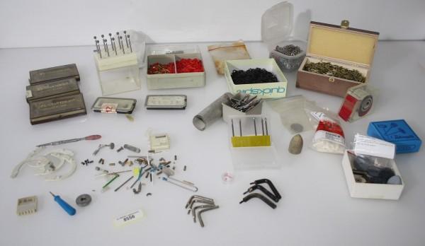 Dentallabor-Restposten Fräsen, Pins, Hülsen, Werkzeug etc. # 8556