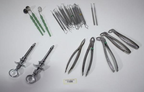 Zahnarztpraxis Restposten diverse Instrumente, Zangen etc. # 11595