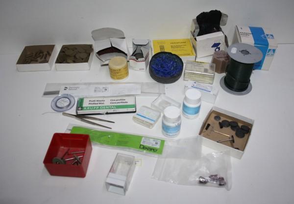 Dentallabor-Restposten diverse Verbrauchsmaterialien # 12356