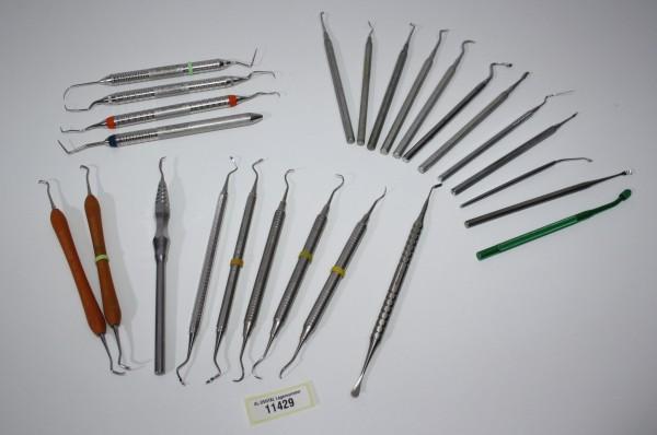 Diverse Dental-Handinstrumente # 11429