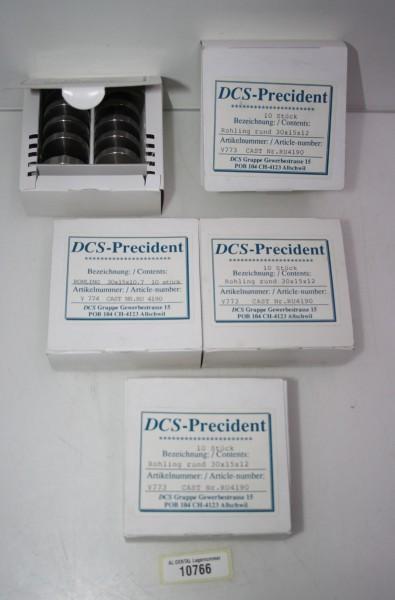 50 x DCS-Precident Titanrohling rund 30x15x12mm # 10766