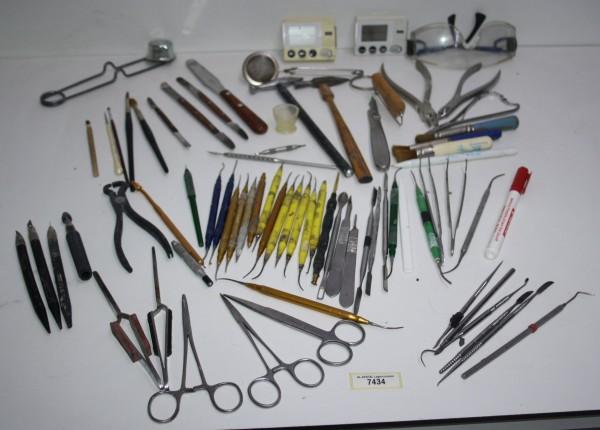 Dentallabor-Restposten diverse Werkzeuge, Instrumente, Equipment # 7434