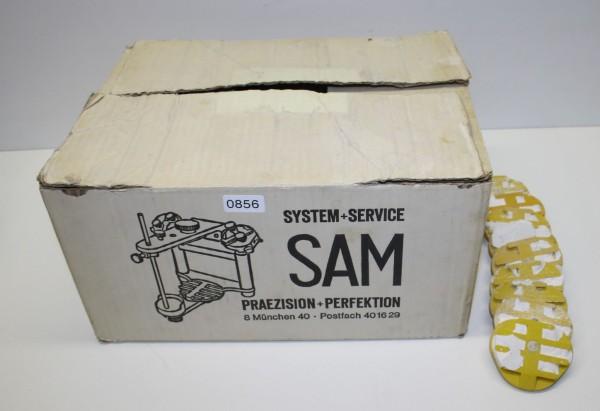 SAM Artikulator mit 10 gebrauchten Montageplatten # 856