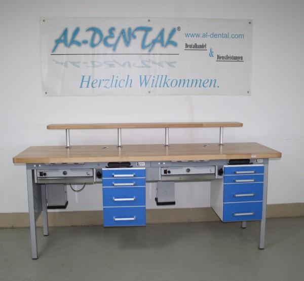 2er Arbeitstisch / Labortisch / Arbeitsblock / Doppelarbeitsplatz # 7373