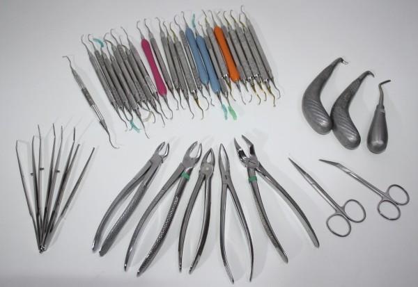 Zahnarztpraxis Restposten diverse Instrumente, Zangen etc. # 11592