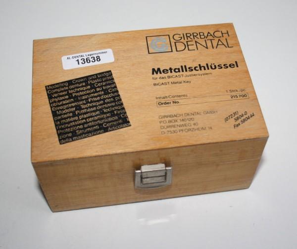 GIRRBACH DENTAL Metallschlüssel für BICAST-Justiersystem # 13638