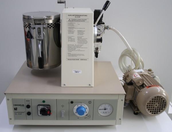 HERAEUS Vacuum-Druckgussgerät Combilabor CL-G-97 + Vakuumpumpe # 10817
