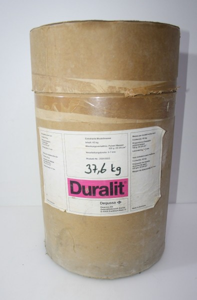 DEGUSSA Restposten Extraharte Modellmasse Duralit - 37,6 kg