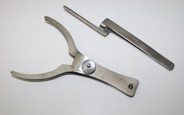 GHM Klemmpinzette-Doppelgabel + Arti-Fol-Pinzette # 3714