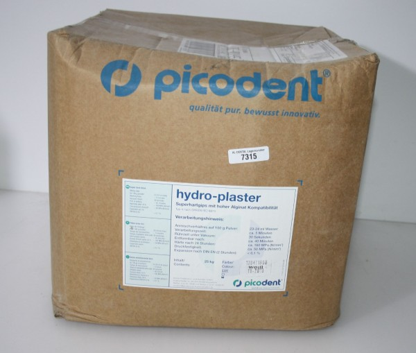 picodent hydro-plaster Superhartgips 25 kg - OVP # 7315