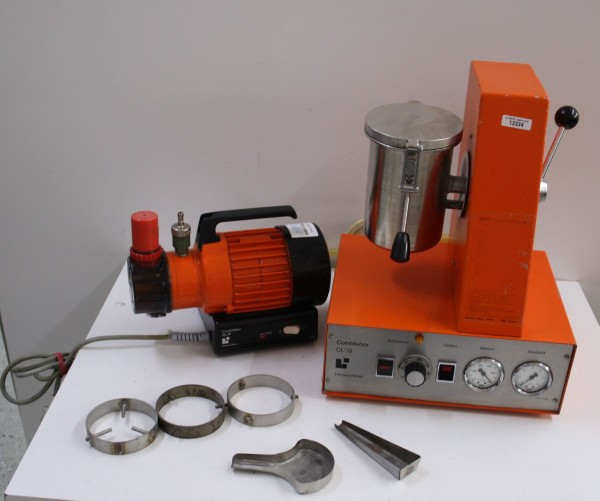 HERAEUS Gießgerät Typ CL-G orange + Vakuumpumpe # 13334