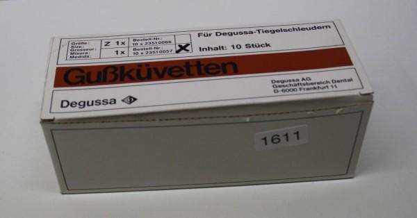 Degussa Gußküvetten Z 1 - 10 Stück - neu # 1611