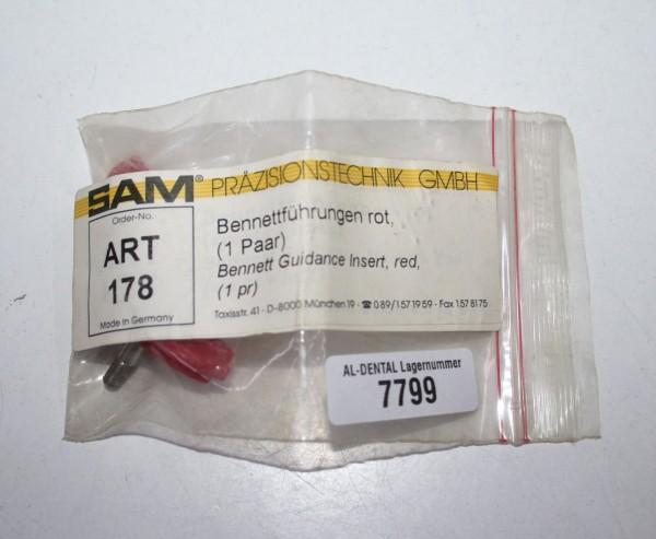 SAM Bennetführungen rot - 1 Paar ART 178 # 7799