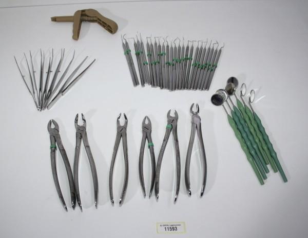 Zahnarztpraxis Restposten diverse Instrumente, Zangen etc. # 11593