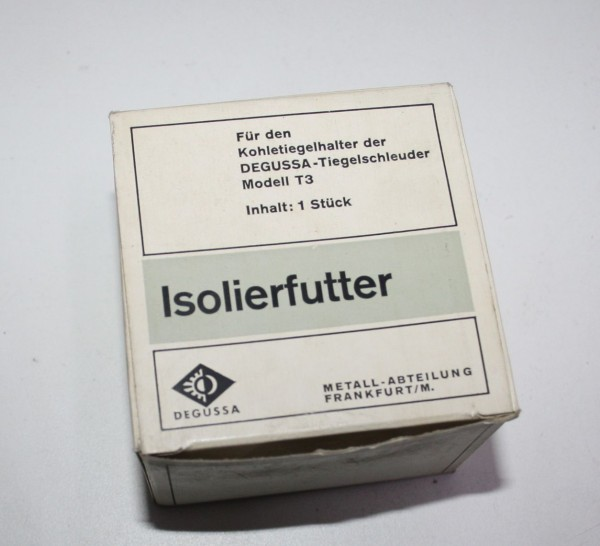 DEGUSSA Isolierfutter für Kohletiegelhalter der Tiegelschleuder T 3 # 7446