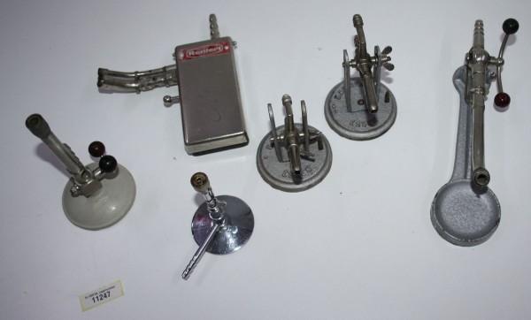 6 x diverse Bunsenbrenner für die Zahntechnik # 11247