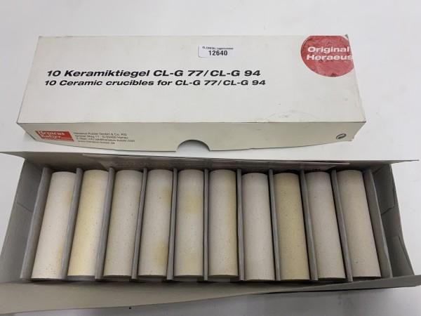 HERAEUS 10 x Keramiktiegel CL-G 77 / CL-G 94 # 12640