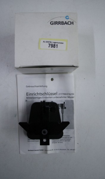 GIRRBACH Splitex Einrichtschlüssel # 7981