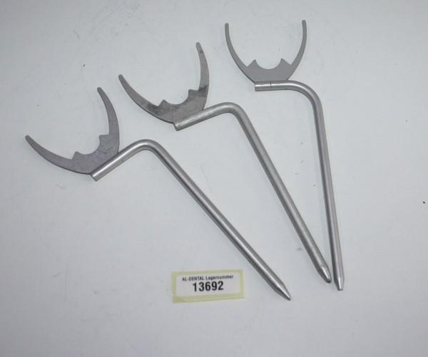 3 x Dental Bißgabel # 13692